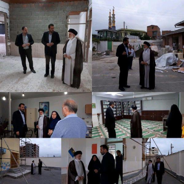 مشاور عالی وزیر آموزش و پرورش از پروژه مهر مدارس بابلسر بازدید کرد