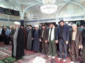 اقامه  اولین نماز جماعت سال جدید تحصیلی در جمع دانش آموزان قزوین