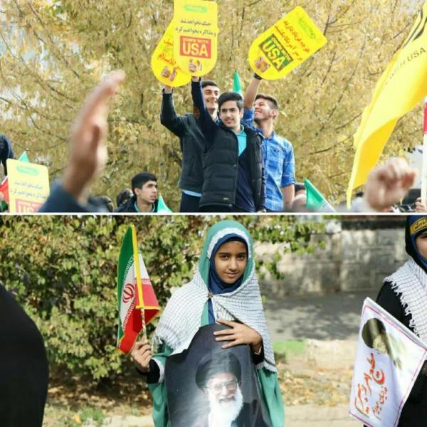 نمایی از استکبار ستیزی دانش آموزان ایران اسلامی