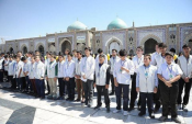 ۵۰ هزار دانش آموز فعال  در عرصه نماز به حرم رضوی مشرف می شوند