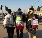 پیاده روی دانش آموزی در اربعین با معلمان خوش ذوق و انقلابی