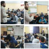 اجرای گفتمان انقلاب در دبستانهای  مینودشت با حضور عمو روحانی + تصاویر