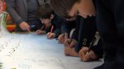 نامه دانش آموزان قمی به رهبر معظم انقلاب همزمان با دهه مبارک فجر+تصاویر