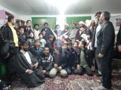 تجلیل امام جمعه پردیسان ازدانش اموزان فعال دربرنامه های فرهنگی