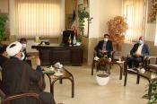 دیدار مدیرحوزه علمیه شهرستان مبارکه با مدیر آموزش و پرورش