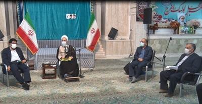 نشست فرهنگیان میبد با مدیر حوزه های علمیه کشور  +تصاویر